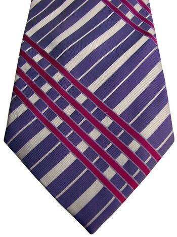 TED BAKER Tie Purple - Fuchsia & White Check