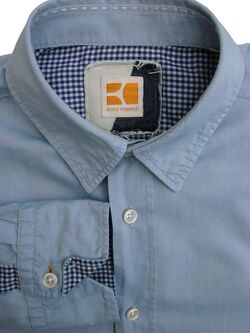 Mens HUGO BOSS ORANGE Shirt 15 S Blue