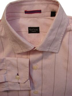 PAUL SMITH Shirt Mens 15 S Pink - Stripes
