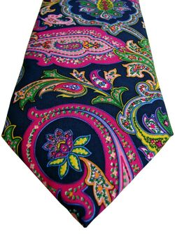 Mens MARKS & SPENCER M&S Tie Multi-Coloured Paisley