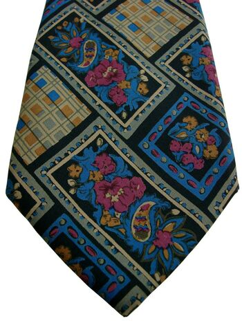 CERRUTI 1881 Mens Tie Multi-Coloured Flowers & Squares