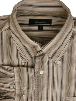 FACONNABLE Shirt Mens 16 L Multi-Coloured Stripes