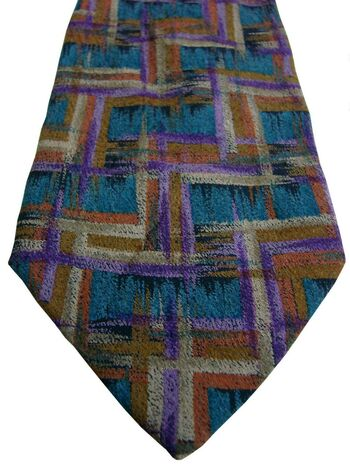 MISSONI Mens Tie Multi-Coloured Abstract Rectangles