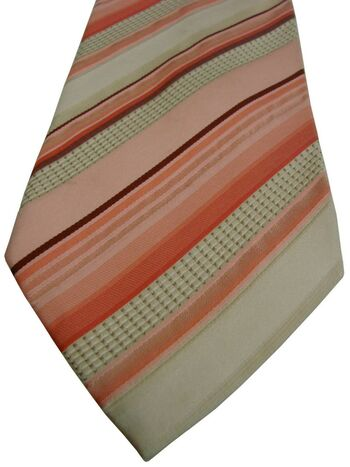 HUGO BOSS Mens Tie Pink & White Stripes