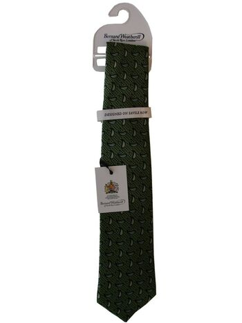 BERNARD WEATHERILL Mens Tie Green - Tear Drops NEW BNWT