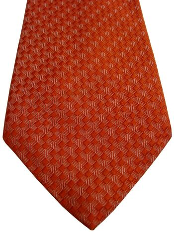 AQUASCUTUM Mens Tie Orange - Thatch