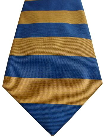 DUCHAMP LONDON Mens Tie Gold & Blue Stripes