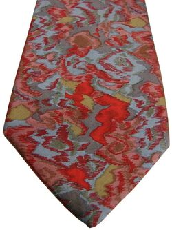 CHRISTIAN DIOR Mens Tie Multi-Coloured Splodges