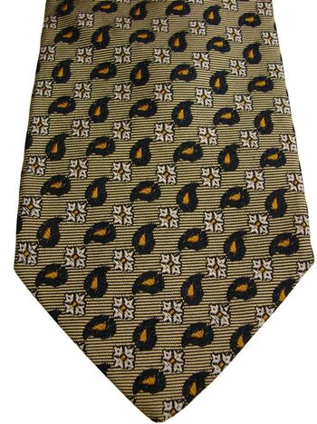 FACONNABLE Mens Tie Gold - Tear Drops