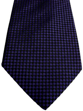 RICHARD JAMES Mens Tie Purple & Black Squares