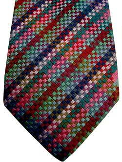 DUCHAMP LONDON Mens Tie Multi-Coloured Squared Check