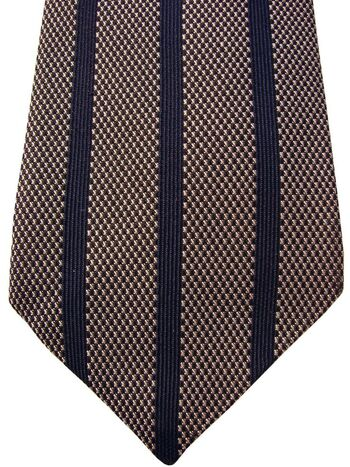 DUCHAMP LONDON Mens Tie Dark Blue Vertical Stripes