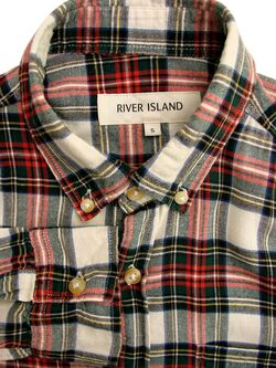 RIVER ISLAND Shirt Mens 15 S Multi-Coloured Check