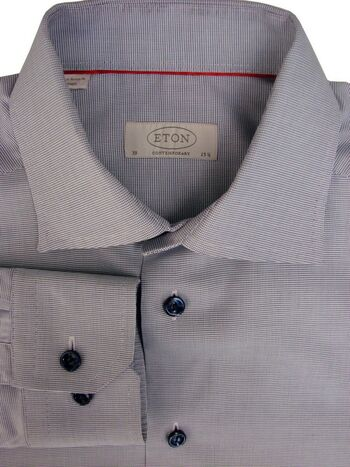 ETON CONTEMPORARY Shirt Mens 15.5 M Blue Dots