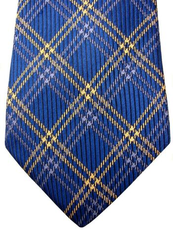 THOMAS PINK Mens Tie Blue & Yellow Check