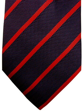 NEW & LINGWOOD Mens Tie Dark Blue - Red Stripes NEW BNWT