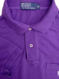 RALPH LAUREN POLO T-Shirt Mens M Purple SHORT SLEEVE