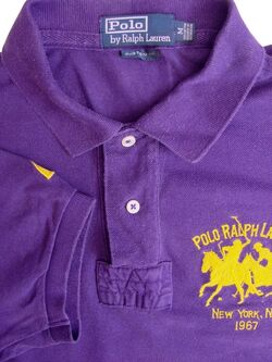 RALPH LAUREN POLO T-Shirt Mens M Purple CUSTOM FIT SHORT SLEEVE