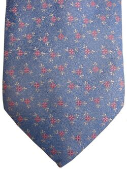THOMAS PINK Mens Tie Blue - Pink & White Flowers