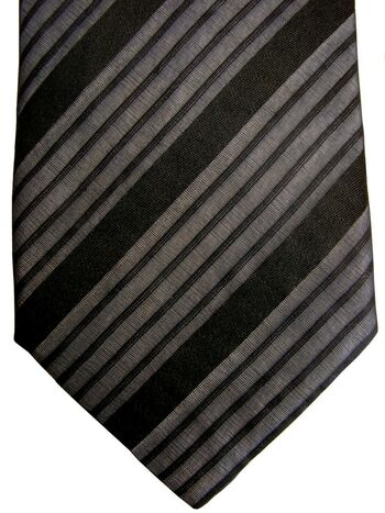 HUGO BOSS Tie Black & Grey Stripes