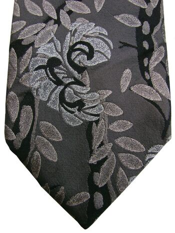 KENZO HOMME Tie Grey - Leaves & Flowers
