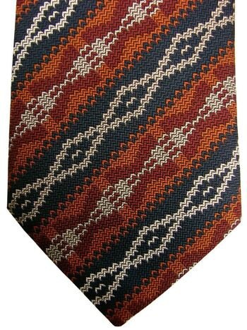 GIEVES & HAWKES Mens Tie Multi-Coloured Striped Design NEW