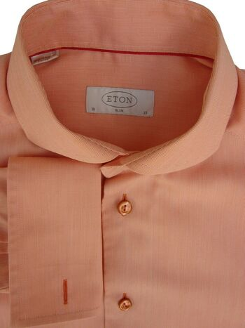 ETON Shirt Mens 14.5 S Orange SLIM