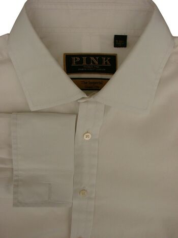 THOMAS PINK THE IMPERIAL Shirt Mens 16 M White CLASSIC 170S