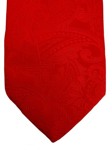 DUCHAMP LONDON Mens Tie Mens Red - Paisley NEW BNWT