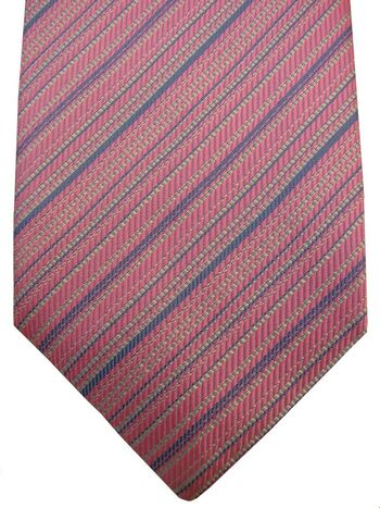 MARK MARENGO SCARLET Tie Pink - Stripes NEW