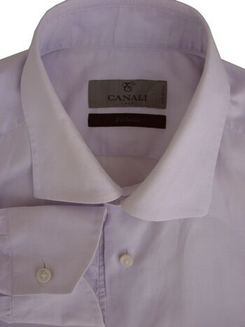 CANALI EXCLUSIVE Shirt Mens 15.5 M Lilac LIGHTWEIGHT