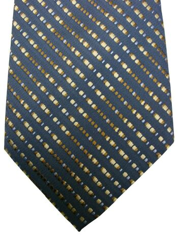 UNGARO Mens Tie Dark Grey - Multi-Coloured Squares NEW