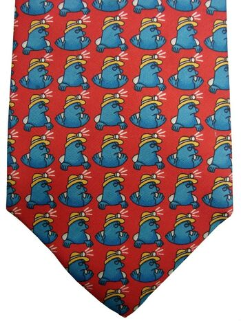 ITEMS Mens Tie Red - Workman Mole