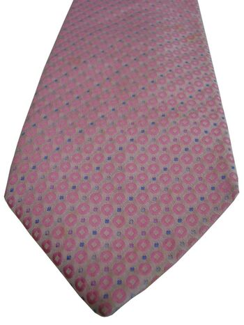 HAINES & BONNER Tie Pink Polka Dots