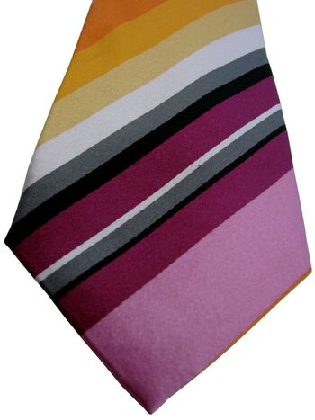 JOHN FRANCOMB TM LEWIN Mens Tie Multi-Coloured Stripes SKINNY NEW