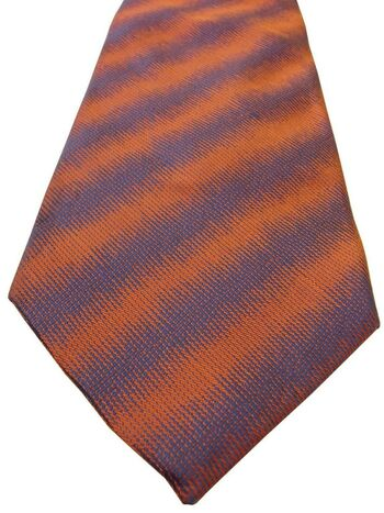TM LEWIN Mens Tie Orange & Purple Lightning Stripes