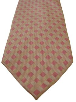 TM LEWIN Mens Tie Pink White & Yellow Check